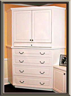 Built-ins - White TV Cabinet