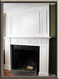 White Painted Mantle Fireplace Surround